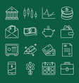 finance and money icon collection in line style vector image vector image