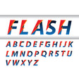 flash speed alphabet vector image vector image