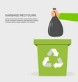 flat garbage recycling colorful concept vector image