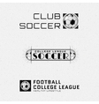 Football Soccer badges logos and labels for any vector image vector image