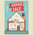 garage sale banner vector image vector image