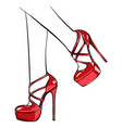 girls in high heels fashion vector image vector image