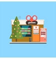 Glasses Shop Front in Christmas vector image vector image