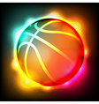 Glowing Basketball vector image