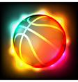 Glowing Basketball vector image