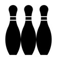 glyph beautiful bowling pin icon vector image vector image
