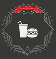 hamburger or cheeseburger paper cup with drinking vector image
