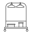 hanger clothes icon outline style vector image