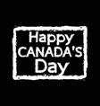 happy canada day design vector image vector image