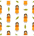 holiday seamless pattern beautiful indian girls vector image vector image