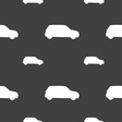 Jeep icon sign Seamless pattern on a gray vector image vector image
