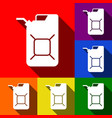 jerrycan oil sign jerry can oil sign set vector image