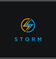 letter s for storm logo icon template vector image