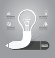 light bulb with pencil icon concept vector image