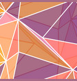 low poly abstract in coral colours vector image vector image