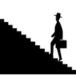 Man getting upstairs vector image vector image