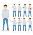man in casual outfit set vector image vector image