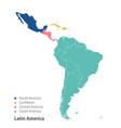 map latin america vector image vector image