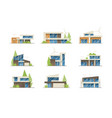 modern houses collection vector image