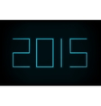 modern neon 2015 new year vector image