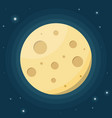 moon against the starry sky night sky flat vector image