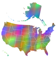 Motley map of USA vector image vector image