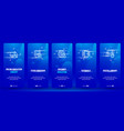 online education concept study program distance vector image