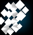 Paper square banner with shadow background vector image vector image