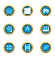 repair of building icons set flat style vector image vector image