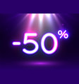 sale glowing neon sign light background vector image
