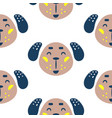 seamless pattern with dogs cute childish baby vector image
