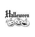 set cartoon halloween pumpkins halloween vector image