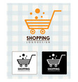shopping logo design vector image vector image