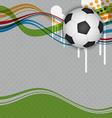soccer background design vector image vector image
