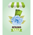 spring sale design vector image vector image