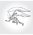 Start running Man with wings vector image vector image