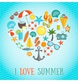 Summer Heart Poster vector image vector image