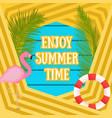 summer tropic vacation background flamingo bird vector image