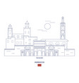 tangier city skyline vector image vector image