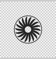 ventilator symbol icon on transparent background vector image