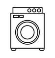 washer laundry machine vector image vector image