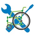 Wheelchair service vector | Price: 1 Credit (USD $1)