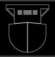 seagoing cargo ship white color path icon vector image