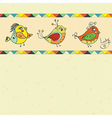 background with bird parrot vector image