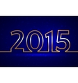 2015 new year greeting billboard with golden wire vector image vector image