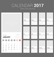 2017 Calendar Planner Design with Space vector image