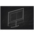 3d model of the monitor on a black vector image vector image
