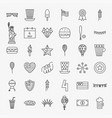4 july line icons set vector image vector image