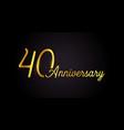 40 anniversary logo concept 40th years birthday vector image vector image