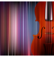abstract blue music background with violin vector image vector image